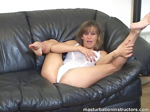 jerk off teacher demos proper masturbation on bed