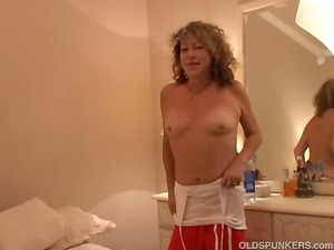 sexy mature inexperienced licks penis