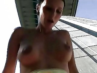 super lady openair gangbanging and jizzed on