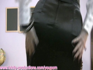 naughty mature babe instructor dildoing on sex