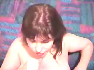 cougar lady massages cock
