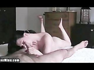 older  slut wipes her mans penis