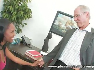 busty elderly dean fucks cute brown student