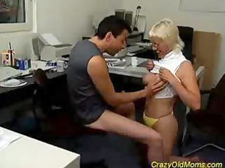 blonde insane granny mom cock sucking