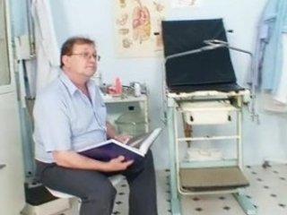 lady bushy vagina gyno examination inside hospital