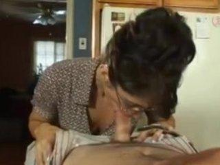woman licks her teachers son