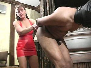 bizarre older dominatrix extreme cbt and balls