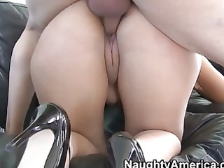 lusty and horny latino woman gives deep warm dick