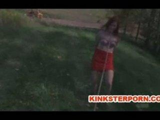 woman bdsm slave catherine de sade outside