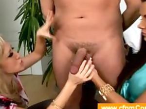 two milfs playing with their boytoy