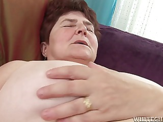 busty granny obtains her shaggy cave juicy has
