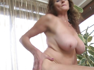 huge boobed old obtaining wet and horny