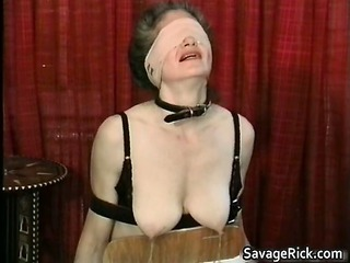 horny milf is sex slave into weird bondage part6