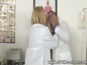 desperate nurses and busty medic dominating