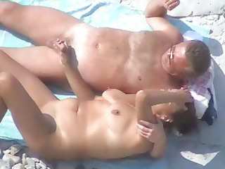 another nice mature pair on the beach