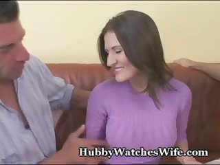 naughty brunette wife takes fucked by a stranger
