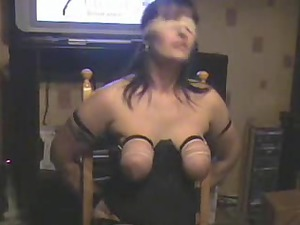 breast whipping my bitch lady