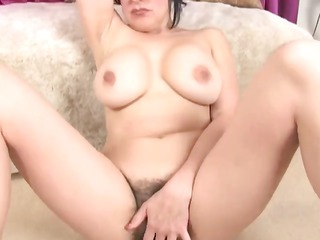 bbw hirsute and busty masturbation