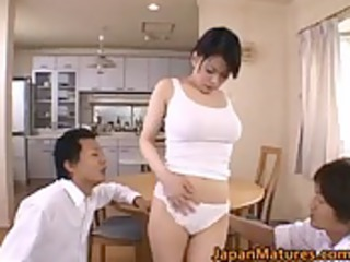 miki sato natural asian mum has group sex