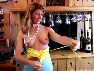 fit older  swinger copulates her wet pussy