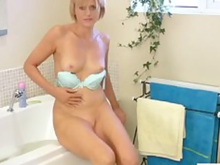 at house cougar vibrator tub masturbation