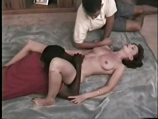 awesome woman licks dark fucker when hubby films