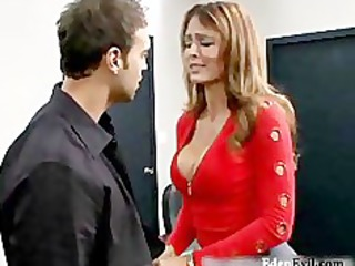 hot lady pierce uneasy  at office