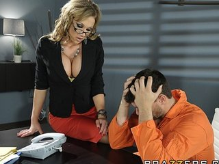 awesome big-boob brunette mature babe lawyer