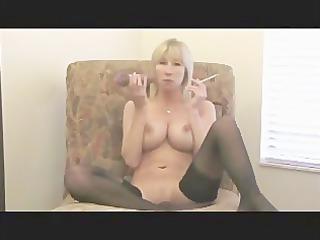smoking boobs