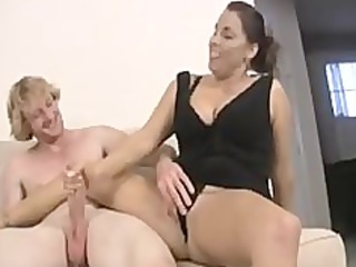 lady and ain her daughter share cock