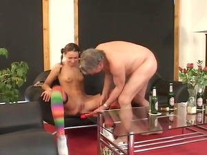 old boy and legal age man pleasing