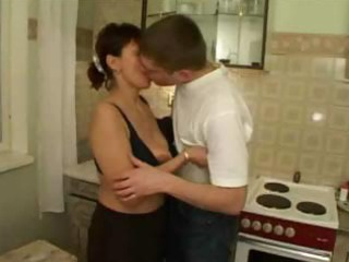 russian milf drilled by her sons friends