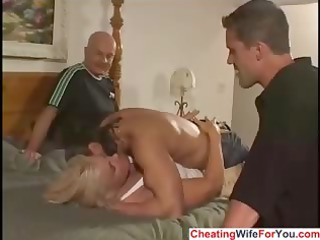 busty lady is a cuckold maiden