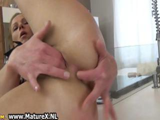 sweet grownup housewife loves playing her part4