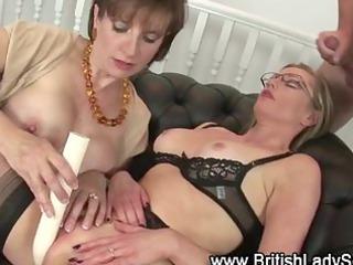 older  pantyhose bitch takes a sperm
