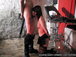 french bdsm slave soumise saylor dick sucking and