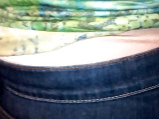 cougar girl wear satin brief 1