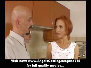 fresh surprising redhead gorgeous lady talking