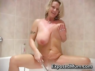 gigantic jiggy tits mum acquiring a bathroom