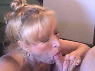 lady smoking cock sucking facial