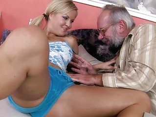 inexperienced pale pleasing porn with grandpa