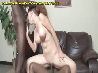 mature babe is a dark penis whore