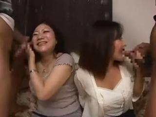 nasty oriental mom and her inexperienced daughter