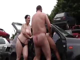 daddy drill lady and amateur angel outside