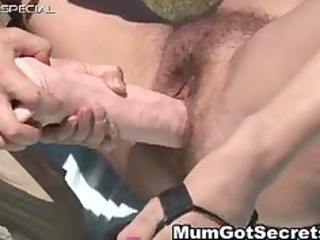 horny lady acquires her bushy muf banged part2