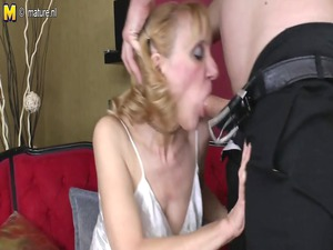 grandmother gets pierced by her toyboy