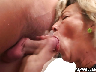 awesome mother into law likes dick driving