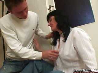 lady inside trouble taken house and pierced by a