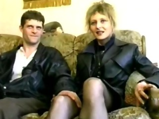 pale cougar gangbanged into pantyhose