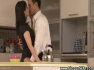 older  asian lady kissing with voyeur